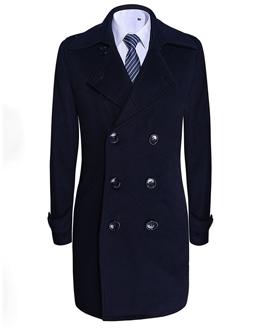 男士双排扣大衣01