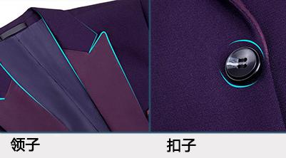 领子和扣子细节展示